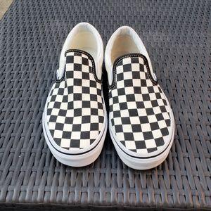Vans classic check slip on